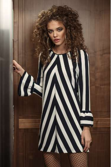 Stripes retro mini dress