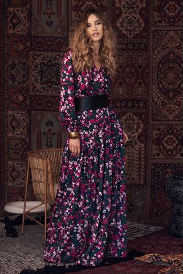 Exquisite floral maxi dress