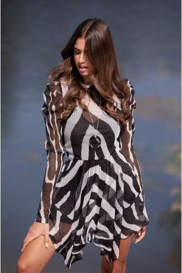 IMPERIAL ZEBRA SHORT DRESS