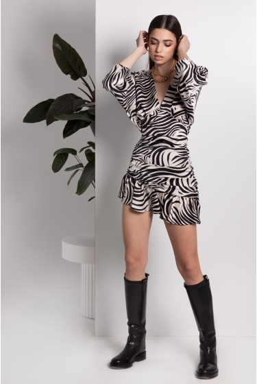 ZEBRA SHORT DRESS
